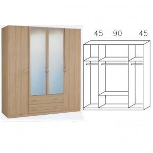 2786 Kombischrank - Breite 181 cm
