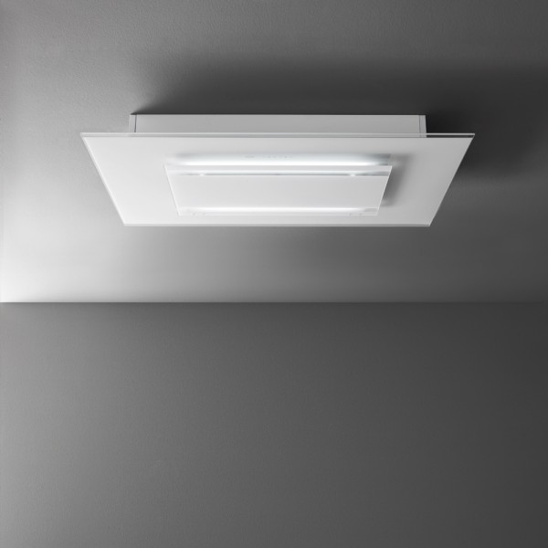 Falmec Aura 120, Design+, Deckenhaube, 120 cm, Weiß