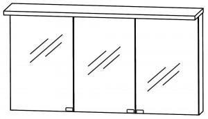 Spiegelschrank 140 cm S2A431416 - für Einzelwaschtisch-Lösung