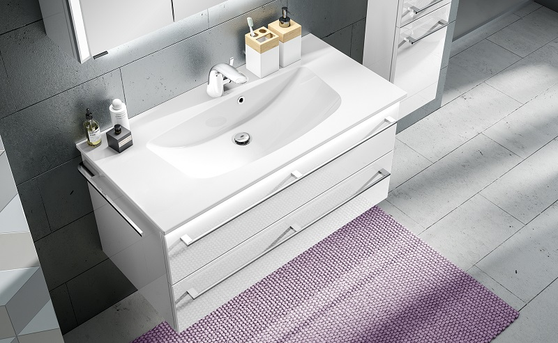 waschtisch mit unterschrank einzelwaschtisch g nstig kaufen m bel universum. Black Bedroom Furniture Sets. Home Design Ideas