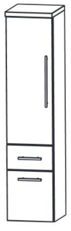 Puris Elegance Mittelschrank 30 cm MNA883A6M Saphirblau - Sofort lieferbar - Sonderpreis
