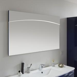 9020-FSP 03 Flächenspiegel mit LED-Lichtprofil in der Spiegelfläche