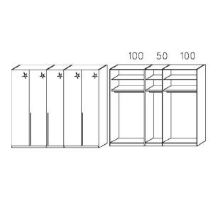 S015 - Äußere Schranktüren in Hglz weiß - Breite: 250 cm