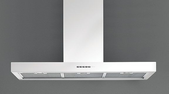 Falmec Plane White, Wandhaube, 90 cm, weiß