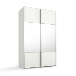 55T2 Schwebetürenschrank - 4 mittlere Türfelder in Spiegel - Breite 136 cm