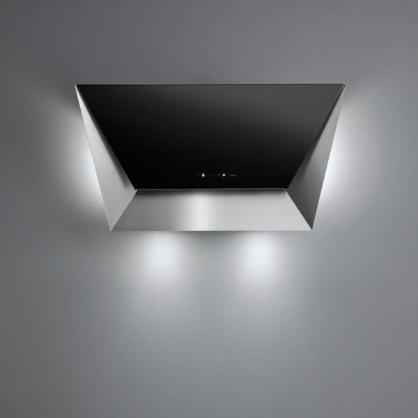 Falmec Prisma, Wandhaube, 85 cm, schwarz