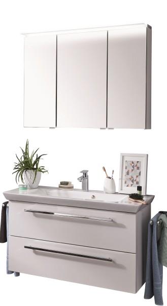 Puris Kao Line Badkombination 96 cm mit Spiegelschrank