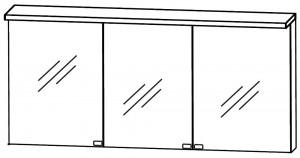 Spiegelschrank 160 cm S2A431615