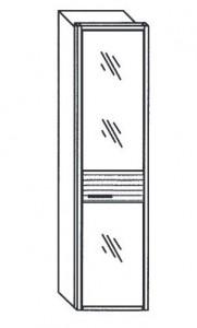 255 - 1 bronzierte Spiegeltür rechts angeschlagen