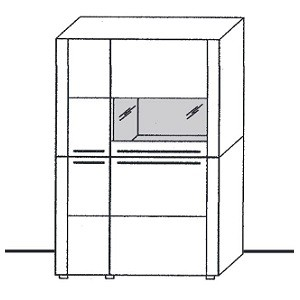 Z8-341ML - schmale Türen links, Vitrine rechts