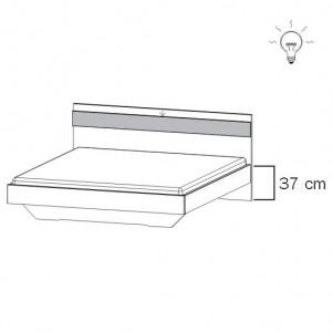 80R2 Bett mit geradem Fußteil - inkl. Bel.