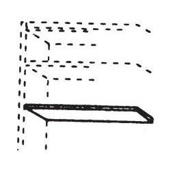 565038 Einlegeboden für Kleiderschrank 2-türig, Breite 97 cm