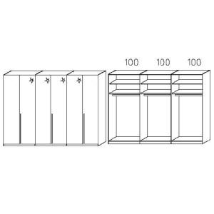S236 - Äußere Schranktüren in Korpusfarben - Breite: 300 cm