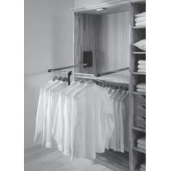 565911 Kleiderlift verchromt für Kleiderschrank 2-türig, Breite 97 cm