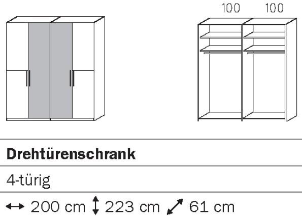 Rauch Steffen Vadora Drehtürenschrank S044