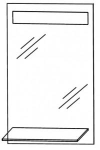 Flächenspiegel 40 cm FSA554001