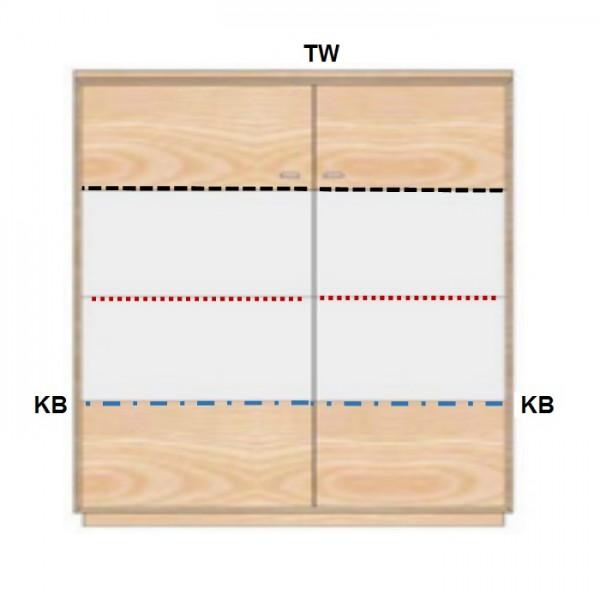 Dudinger Alexandra Highboard AX 4203 günstig kaufen   Möbel-Universum