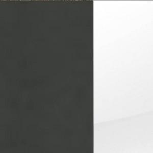 Korpus Grau-metallic / Front Hochglanz Weiß