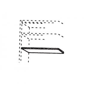 2er-Set Einlegeböden für 1-türiges Schrankelement