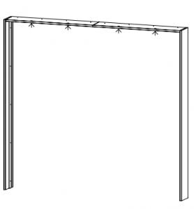 Passepartout-Rahmen OHNE Beleuchtung für die Schrankbreite 226 cm