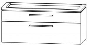 Waschtischunterschrank 120 cm - zwei Auszüge