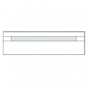 60AX Kopfteil mit Glaseinlage-nach Absetzungsfarbe