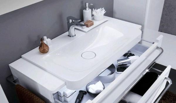 Marlin Saphira Mineralmarmor Waschtisch 120 cm SMWT120 - Sonderpreis - Sofort lieferbar