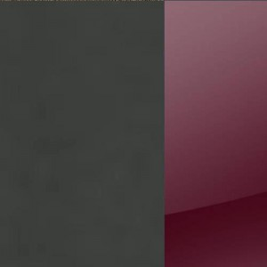 Korpus Grau-metallic / Front Hochglanz Bordeaux