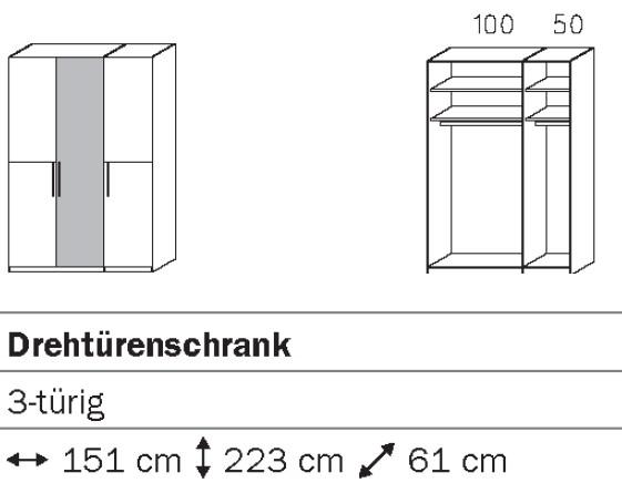 Rauch Steffen Vadora Drehtürenschrank S043