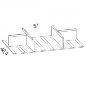 OET65 1x Organisationseinteilung für 65 cm breite Unterteil-Schubkästen
