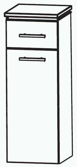 puris cool line highboard 40 cm mit w schekippe hba554a5w g nstig kaufen m bel universum. Black Bedroom Furniture Sets. Home Design Ideas