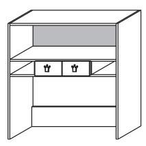 7918 Schreibtischaufsatz mit Schubkästen