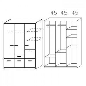 3728 Drehtüren-Kombischrank