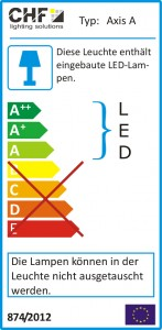mit LED-Beleuchtung