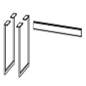 Kufe Weiß, 2 Stück, Höhe 28 cm, Tiefe 39 cm - für Beimöbel zwischen 80-120 cm