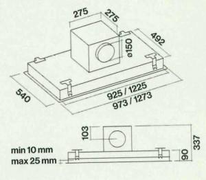 Würfelmotor - 950 m³/h (Stella 90 - Edelstahl)