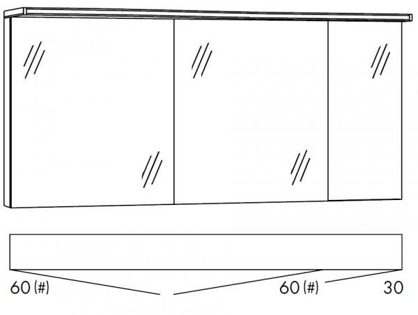 Marlin Bad 3160 - Motion Spiegelschrank 150 cm SOBS663