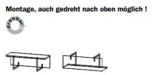 6995 Wandboard / Garderobe / 1 Stück - Breite 79 cm / Höhe 21 cm / Tiefe 30 cm
