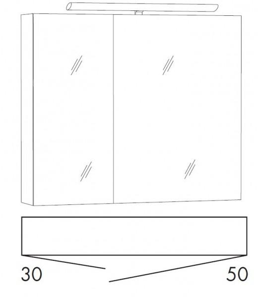marlin bad 3110 spiegelschrank 80 cm sald8 g nstig kaufen m bel universum. Black Bedroom Furniture Sets. Home Design Ideas