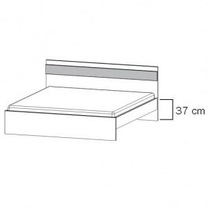 80R1 Bett mit geradem Fußteil