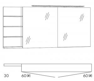 marlin bad 3160 motion 150 cm konfigurator ablage links g nstig kaufen m bel universum. Black Bedroom Furniture Sets. Home Design Ideas