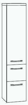 Marlin Aqua Mittelschrank 30 cm AQMI300D Anthrazit - Sonderpreis - Sofort lieferbar
