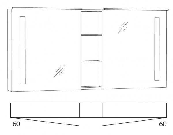 Marlin Azure Spiegelschrank 140 cm SFLSR14