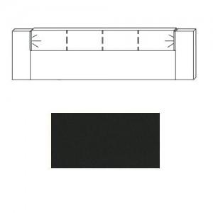 90FD Kopfteil Einlage Lederoptik + Beleuchtung-schwarz