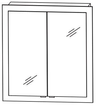 Puris Brillant Einbauspiegelschrank 72 cm S2A436051