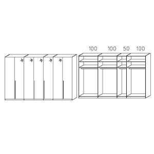 S237 - Äußere Schranktüren in Korpusfarben - Breite: 349 cm