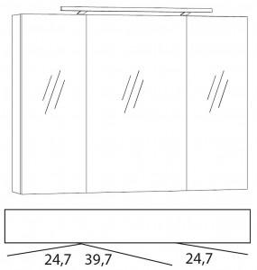 Spiegelschrank 90 cm SPSE900D-4