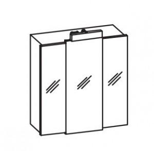 045.406813 Spiegelschrank Livorno I Weiß Glanz / Breite 68 cm / Höhe 73 cm / Tiefe 20 cm