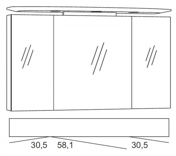 Marlin Bad 3040 - CityPlus Spiegelschrank 120 cm SPLR120D-4
