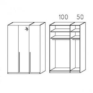 S233 - Äußere Schranktüren in Korpusfarben - Breite: 151 cm